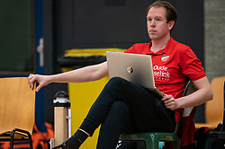 Trainer Thijs Oosting of Apollo 8 in action during the first league match between Laudame Financials VCN vs. Apollo 8 on February 06, 2021 in Capelle aan de IJssel.