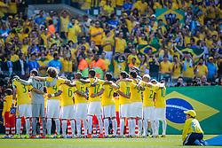 Time do Brasil na partida entre Brasil x Chile, válida pelas oitavas de final da Copa do Mundo 2014, no Estádio Mineirão, em Belo Horizonte. FOTO: Jefferson Bernardes/ Agência Preview