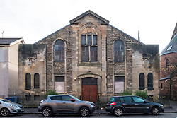 View of Langside Synagogue in Queens Park district of Glasgow, Scotland, United Kingdom