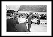 President Kennedy on a sentimental visit to the homestead of his great grandfather. Kennedy surrounded by his cousins and relatives at Dunganstown, County Wexford.  <br />