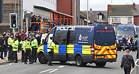 A big police presence the game<br /> <br /> Photographer Dave Howarth/CameraSport<br /> <br /> The EFL Sky Bet Championship - Blackpool v Preston North End - Saturday 23rd October 2021 - Bloomfield Road - Blackpool<br /> <br /> World Copyright © 2020 CameraSport. All rights reserved. 43 Linden Ave. Countesthorpe. Leicester. England. LE8 5PG - Tel: +44 (0) 116 277 4147 - admin@camerasport.com - www.camerasport.com