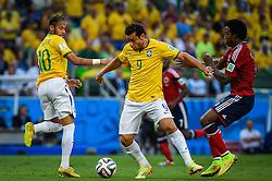 Fred em lance da partida entre Brasil x Colombia, válida pelas quartas de final da Copa do Mundo 2014, no Estádio Castelão, em Fortaleza-CE. FOTO: Jefferson Bernardes/ Agência Preview