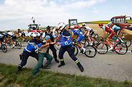 Sabotaged by protesting farmers during the 105th Tour de France 2018, Stage 16, Carcassonne - Bagneres de Luchon (218 km) on July 24th, 2018 - Photo Luca Bettini / BettiniPhoto / ProSportsImages / DPPI