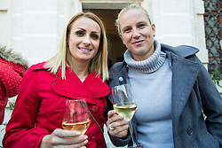 Sabina Veit and Marina Tomic when Primoz Kozmus, Olympic and World Champion in Hammer Throw ending his sports career, on October 23, 2015 in Grad Brezice, Slovenia. Photo by Vid Ponikvar / Sportida