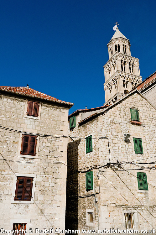 Houses and cathedral bell tower, Diocletian's Palace, Split, Croatia © Rudolf Abraham