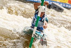 Luka Bozic (SLO) competes in Semi-Finals during Day 3 of 2018 ECA Kayak - Canoe Slalom European Championships, on June 3rd, 2018 in Troja , Prague, Czech Republic. Photo by Grega Valancic / Sportida