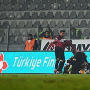 Genclerbirligi's players celebrate goal during their Turkish Super League soccer match Genclerbirligi between Galatasaray at the 19 Mayis stadium in Ankara Turkey on Friday, 26 December 2014. Photo by Batuhan AKICI/TURKPIX
