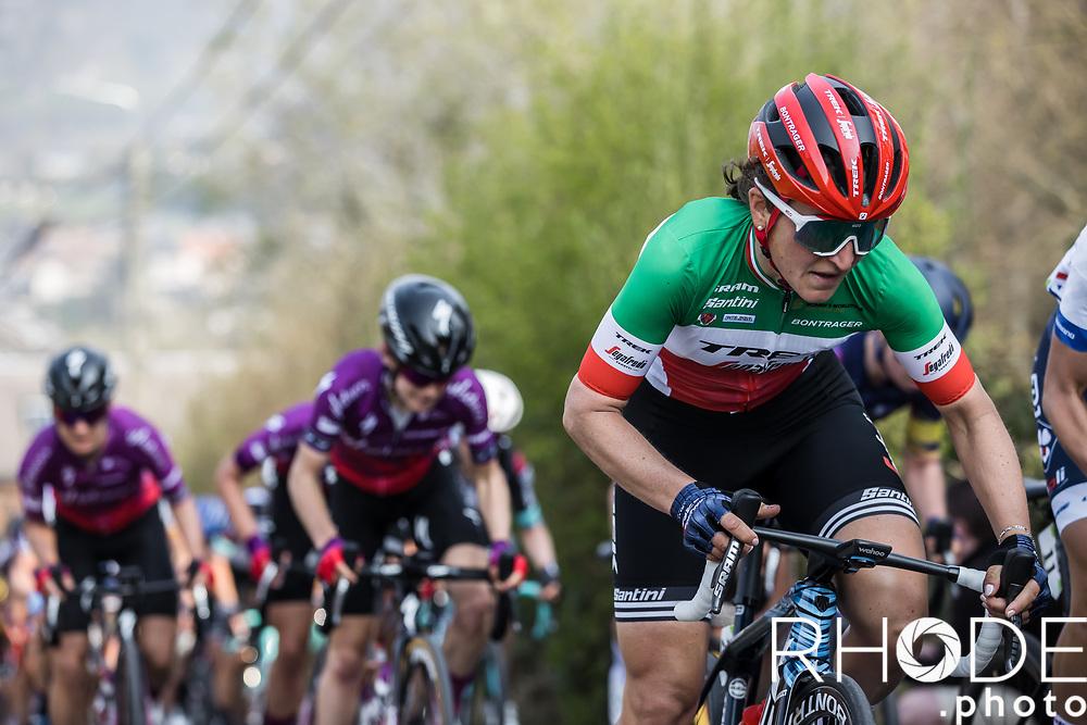 Italian National Champion Elisa Longo Borghini (ITA/Trek Segafredo)<br /> <br /> <br /> 24th la Flèche Wallonne Féminin 2021 (1.UWT)<br /> 1 Day Race: Huy – Huy 130,5km<br /> <br /> ©RhodePhoto