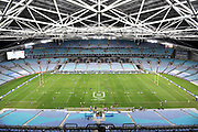 General view of the empty seats at ANZ Stadium because of Covid-19.<br /> North Queensland Cowboys v Canterbury-Bankstown Bulldogs, Round 2 of the Telstra Premiership Rugby League season on Thursday 19th March 2020.<br /> Copyright photo: © NRL Photos 2020