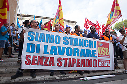 September 7, 2017 - Roma, RM, Italy - Sit-in under the Capitol in Rome organized by Atac workers. (Credit Image: © Matteo Nardone/Pacific Press via ZUMA Wire)