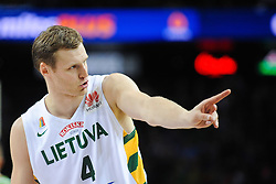 Martynas POCIUS of Lithuania during friendly match between National Teams of Slovenia and Lithuania before World Championship Spain 2014 on August 18, 2014 in Kaunas, Lithuania. Photo by Robertas Dackus / Sportida.com