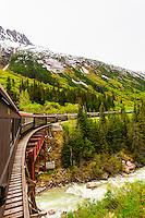 The White Pass & Yukon Route Railroad, a narrow gauge railroad between Skagway, Alaska USA and Whitehorse, Yukon.