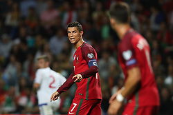 August 31, 2017 - Porto, Porto, Portugal - Portugal's forward Cristiano Ronaldo (L) reacts with Portugal's forward Andre Silva (R) during the FIFA World Cup Russia 2018 qualifier match between Portugal and Faroe Islands at Bessa Sec XXI Stadium on August 31, 2017 in Porto, Portugal. (Credit Image: © Dpi/NurPhoto via ZUMA Press)