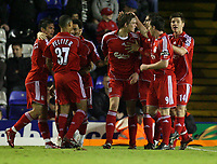 Photo: Rich Eaton.<br /> <br /> Birmingham City v Liverpool. Carling Cup. 08/11/2006. Daniel Agger centre celebrates his goal for Liverpool