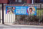 Tesco school vouchers collection point banner