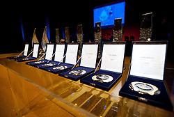 Trophies at Slovenian Sportsman of the year and Slovenian Sportswoman of the year 2010 annual awards presented on the base of Slovenian sports reporters, on December 22, 2010 in Cankarjev dom, Ljubljana, Slovenia. (Photo By Vid Ponikvar / Sportida.com)