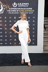 AU_1391515 - Melbourne, AUSTRALIA  -  AAMI Victoria Derby Day celebrities and VIPs in the Birdcage.<br /> <br /> Pictured: Tegan Martin<br /> <br /> BACKGRID Australia 3 NOVEMBER 2018 <br /> <br /> BYLINE MUST READ: Richard Milnes / BACKGRID<br /> <br /> Phone: + 61 2 8719 0598<br /> Email:  photos@backgrid.com.au