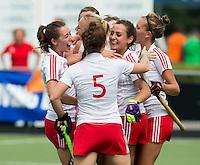 BREDA (Neth.)  England has scored during the match  New Zealand vs England U21 women . Volvo Invitational Tournament U21. COPYRIGHT KOEN SUYK