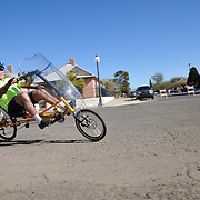 Bicyclist on the closed course of the 2013 Ride On, Tucson. Bike-tography by Martha Retallick.