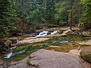 Wodospad Szklarki (woj. dolnośląskie), 26.07.2013. Ścieżka przyrodnicza do Wodospadu Szklarki w Karkonoski Park Narodowy.