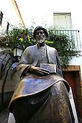 Spain, Andalusia, Cordoba, A statue of Moses Maimonides (Rambam)