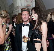 HENRY HOLLAND; DAISY LOWE;  British Fashion awards 2009. Supported by Swarovski. Celebrating 25 Years of British Fashion. Royal Courts of Justice. London. 9 December 2009