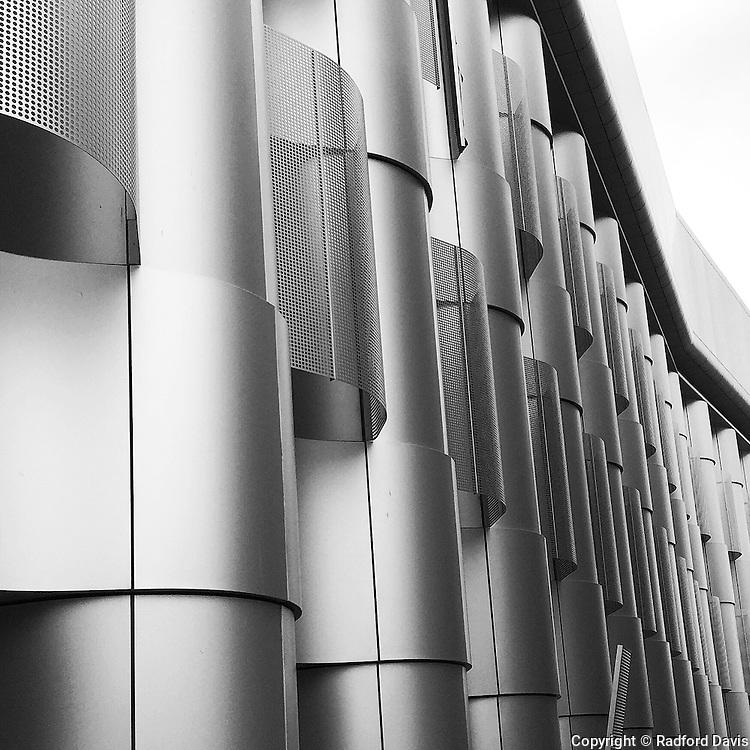 Metal building exterior, University of Bristol, England