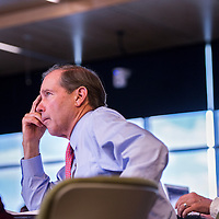 090613       Cable Hoover<br /> <br /> Senator Tom Udall listens to presentations at healthcare workforce forum at UNM-Gallup Friday.
