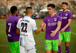 Callum O'Dowda of Bristol City shakes hands with the opposition at full time - Mandatory by-line: Matt McNulty/JMP - 22/07/2017 - FOOTBALL - Tenerife Top Training - Costa Adeje, Tenerife - Bristol City v Atletico Union Guimar  - Pre-Season Friendly