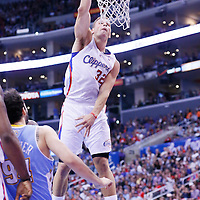 15 April 2014: Los Angeles Clippers forward Blake Griffin (32) dunks the ball during the Los Angeles Clippers 117-105 victory over the Denver Nuggets at the Staples Center, Los Angeles, California, USA.
