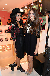 Left to right, SARAH-JANE CRAWFORD and LISA POTTER-DIXON Benefit's Head Make-Up and Trend Artist at the launch of the Benefit Global Flagship Boutique at 10 Carnaby Street, London on 11th September 2013.