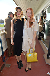 Left to right, OLIVIA DUNIN and MORWENNA LYTTON COBBOLD at the 2013 Hennessy Gold Cup at Newbury Racecourse, Berkshire on 30th November 2013.