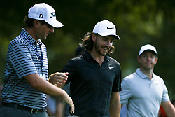 September 19, 2018 - Atlanta, Georgia, United States - Tommy Fleetwood (C) and Rory McIlroy walk off the 10th tee during the practice round at the 2018 TOUR Championship. (Credit Image: © Debby Wong/ZUMA Wire)