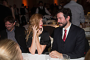 Michelangelo Bendandi; Olivia Inge, Lisson Gallery dinner, Banqueting House. London. 15 October 2013