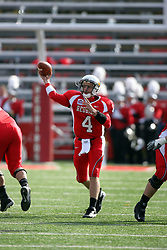 25 October 2008: Drew Kiel steps up to pass iin a game which the North Dakota Bison defeated the Illinois State Redbirds at Hancock Stadium on campus of Illinois State University in Normal Illinois