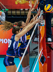 16-10-2018 JPN: World Championship Volleyball Women day 17, Nagoya<br /> Italy - Serbia / Lucia Bosetti #16 of Italy, Cristina Chirichellac #10 of Italy