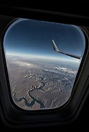 View from a window seat on a flight from Seattle to Bismarck