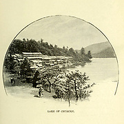Lake of Chusenji [Lake Chuzenji] from the book ' Rambles in Japan : the land of the rising sun ' by Tristram, H. B. (Henry Baker), 1822-1906. Publication date 1895. Publisher New York : Revell