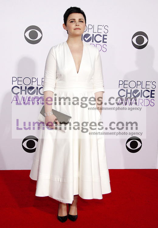 Ginnifer Goodwin at the 41st Annual People's Choice Awards held at the Nokia L.A. Live Theatre in Los Angeles on January 7, 2015. Credit: Lumeimages.com