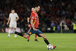 Spain's Sergi Busquets during UEFA Nations League 2019 match between Spain and England at Benito Villamarin stadium in Sevilla, Spain. October 15, 2018. Photo by A. Perez Meca/Alterphotos/ABACAPRESS.COM