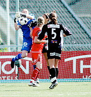 Fotball , <br /> Toppserien kvinner , <br /> 18.05.08 , <br /> Røa kunstgress stadion , <br /> Dynamite Girls Røa - Arna Bjørnar , <br /> Røa keeper Caroline Knutsen , <br /> Foto: Thomas Andersen / Digitalsport