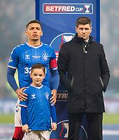 Football - 2019 Betfred Scottish League Cup Final - Celtic vs. Rangers<br /> <br /> Rangers manager Steven Gerrard and James Tavernier of Rangers before the game, Hampden Park Glasgow.<br /> <br /> COLORSPORT/BRUCE WHITE