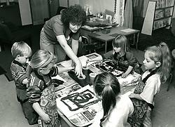 Art class, primary school Nottingham UK 1992