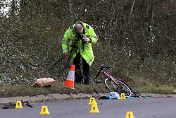 Wickham,Hampshire Wednesday 17th August 2016 Files Pictures of Fatal RTC A 69-year-old driver who killed a 'handsome and motivated' cyclist with a dream to compete professionally when she was 'blinded by the sun' has been spared jail.<br /> <br /> William Houghton died in hospital just one day after pensioner Jeanette Smith crashed her white Citroen C3 into him on a busy A-road in Whickham, Hampshire.<br /> <br /> The 20-year-old university student had been an aspiring professional cyclist and had bought online a brand new racing bike just days before he died.<br /> <br /> Smith, from Denmead, Hampshire, has now admitted causing death by careless driving but was spared jail by magistrates who instead sentenced her to a 12-month community order.<br /> <br /> She wept in the dock at Portsmouth Magistrates' Court as she was also disqualified from driving for a year and ordered to carry out 60 hours of unpaid work.<br /> <br /> Magistrates were told how Smith ploughed her hatchback crashed into Mr Houghton after she was 'blinded by the sun' on the A32 on January 28.<br /> <br /> He suffered serious head injuries and was taken to hospital but passed away the following day.<br /> <br /> Paying tribute to their son after the Smith's sentencing, Mr Houghton's parents, Liz and Richard Houghton, said: 'Our grief for our loving, passionate, driven and wonderful son Will is deep.<br /> <br /> ©UKNIP