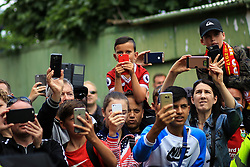 12 August 2017 -  Premier League - Watford v Liverpool - Fans, camera phones at the ready wait to catch a glimpse of the players as they arrive at Vicarage Road - Photo: Marc Atkins / Offside.