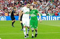 Chapecoense's surviving players of the air crash Jackson Follmann and Helio Zampier Neto before Joan Gamper Trophy. August 7,2017. (ALTERPHOTOS/Acero)