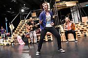 Open repetitie HAIR in de studio van Stage Entertainment.<br /> <br /> op de foto:  Jeffrey Italiaander