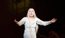 The Queen of Spades<br /> English National Opera <br /> at the London Coliseum, London, Great Britain <br /> rehearsal <br /> 3rd June 2015 <br /> directed by David Alden <br /> conducted by Edward Gardner<br /> <br /> Felicity Palmer as Countess<br /> <br /> Photograph by Elliott Franks <br /> Image licensed to Elliott Franks Photography Services