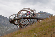 Large Sundial on Elfer Mountain, Neustift im Stubaital, Tyrol, Austria