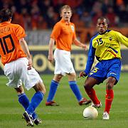 NLD/Amsterdam/20060301 - Voetbal, oefenwedstrijd Nederland - Ecuador, Marlon Ayori